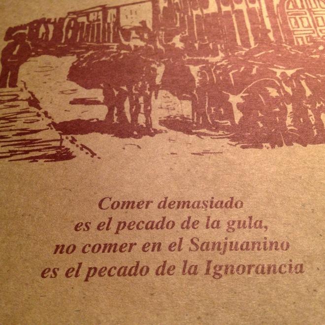 El Sanjuanino